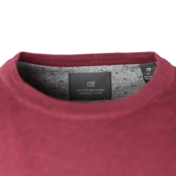Scotch & Soda Mens Red Cotton Melange Crew Neck Jumper main image