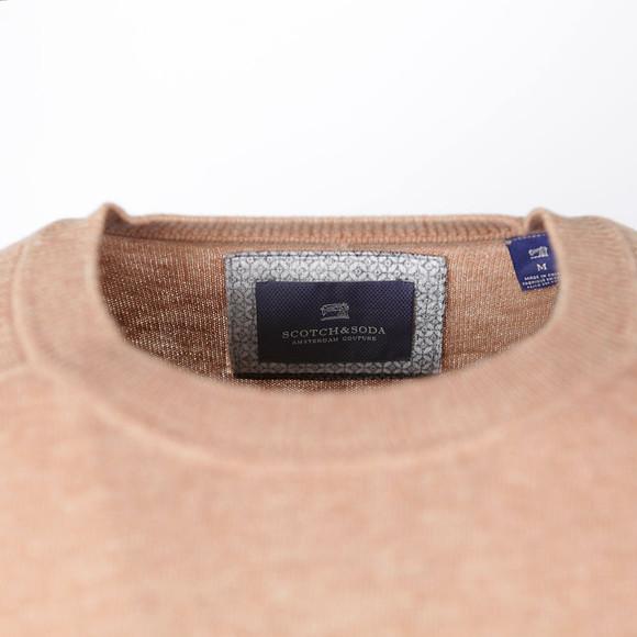 Scotch & Soda Mens Brown Shoulder Detail Knit Jumper main image