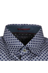 Ted Baker Mens Blue L/S Geo Print Shirt