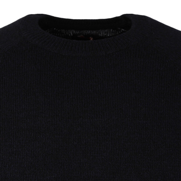 Barbour Heritage Mens Blue Staple Crew Neck Jumper main image