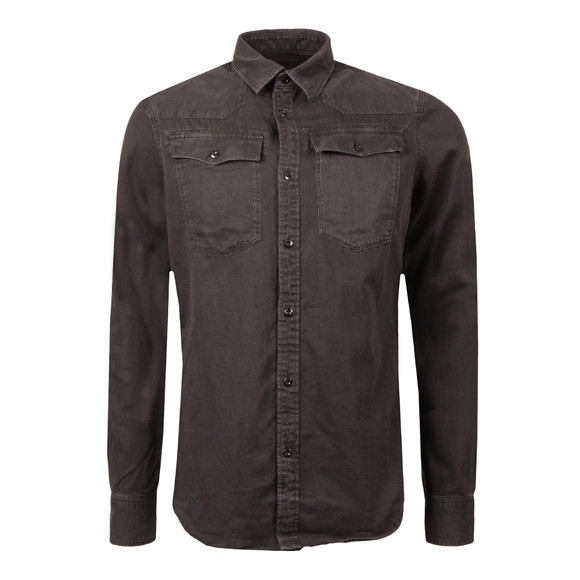 G-Star Mens Black Trell Denim LS Shirt main image