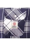 Franklin & Marshall Mens Blue Large Check Shirt