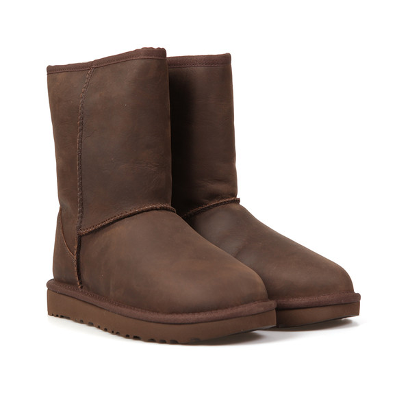 Ugg Womens Brown Classic Brownstone Short Leather Boot main image