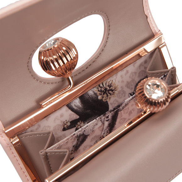 Ted Baker Womens Pink Julissa Etched Bobble Patent Small Purse main image