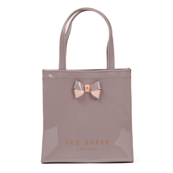 Ted Baker Womens Purple Minacon Colourblock Bow Small Icon Bag main image