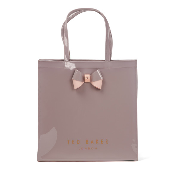 Ted Baker Womens Purple Elacon Colour Block Bow Large Icon Bag main image