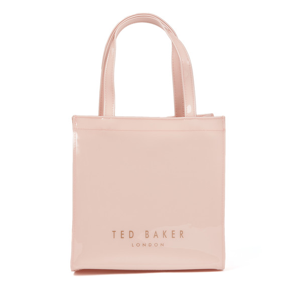 Ted Baker Womens Pink Minacon Colourblock Bow Small Icon Bag main image