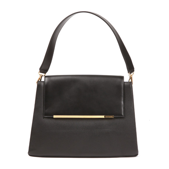 Ted Baker Womens Black Fionah Folded Edge Detail Shoulder Bag main image