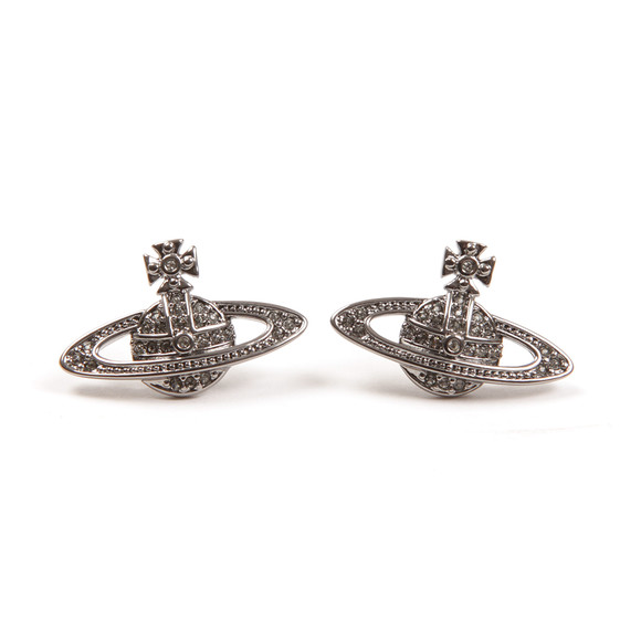 Vivienne Westwood Womens Grey Mini Bas Relief Earring main image