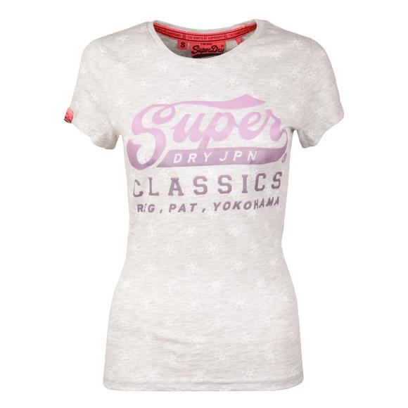 Superdry Womens Grey Classics AOP T Shirt main image