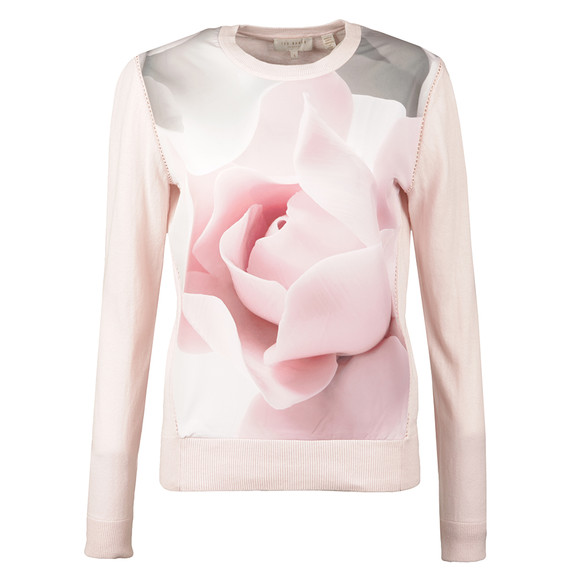 Ted Baker Womens Pink Arabel Porcelain Rose Jumper main image