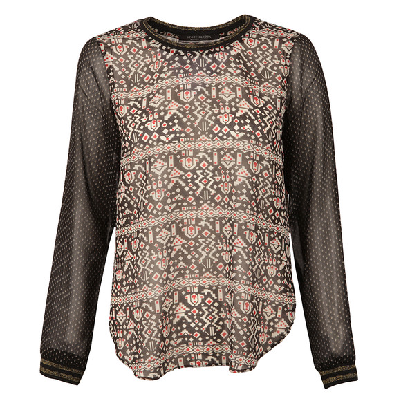 Maison Scotch Womens Multicoloured Long Sleeve Top main image