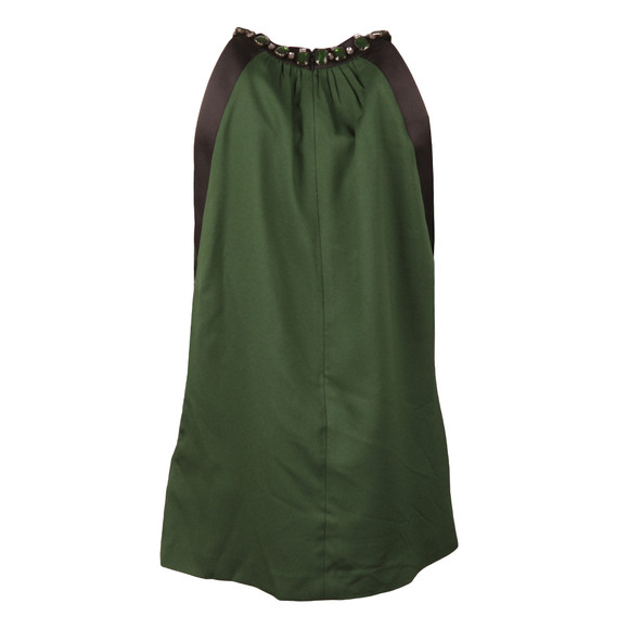 Michael Kors Womens Green Jewel Detail Top main image