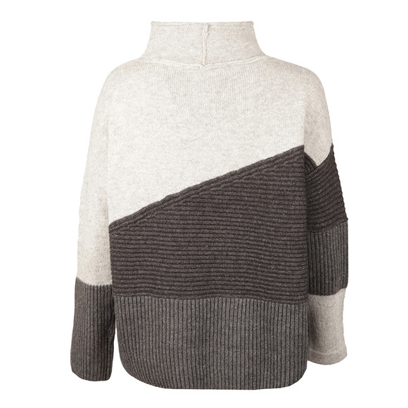 French Connection Womens Grey Patchwork Tonal Knit main image