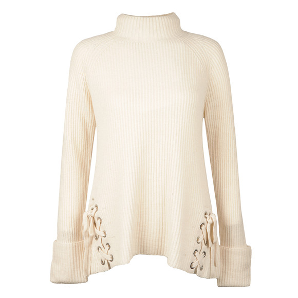 French Connection Womens Off-white Freedom Fringe Jumper main image