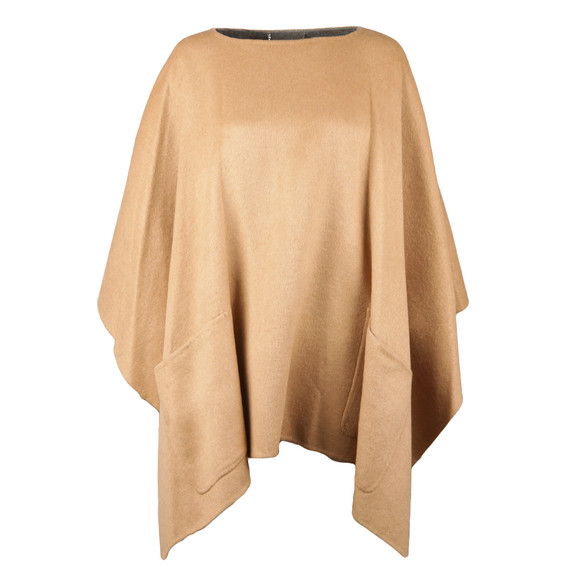 Michael Kors Womens Brown Doubleface Poncho main image