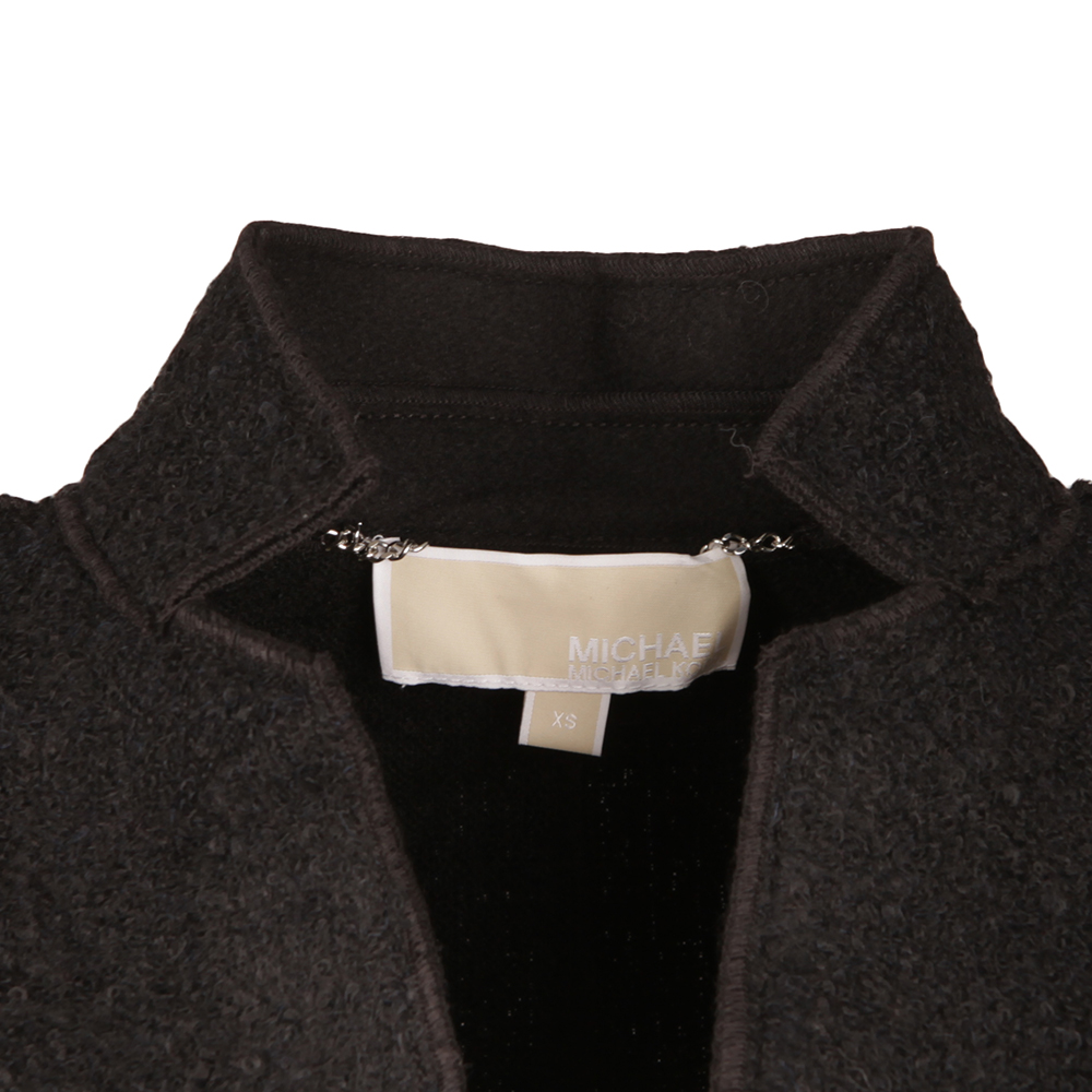 Raw Edge Overlap Coat main image