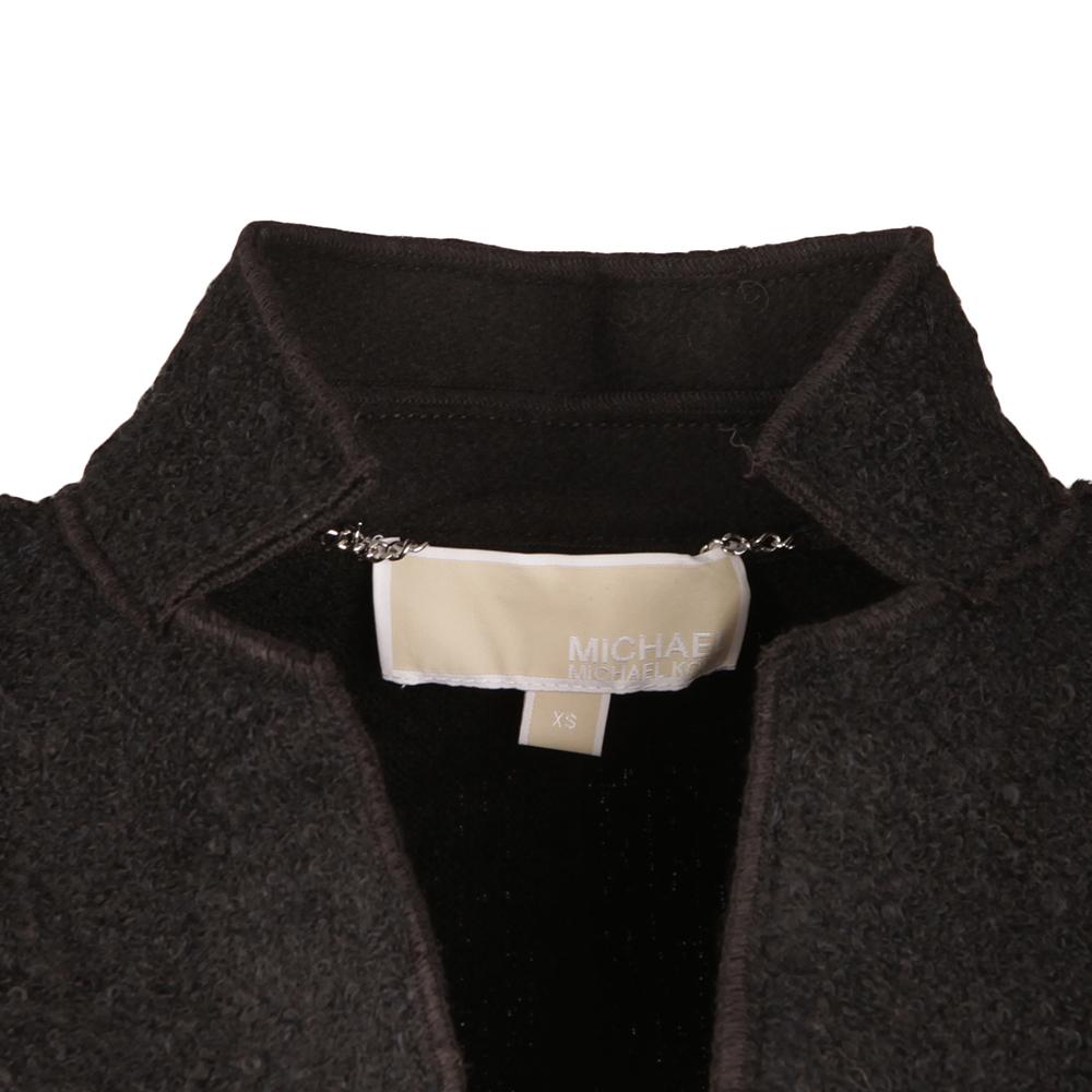 Raw Edge Overlap Coat main image