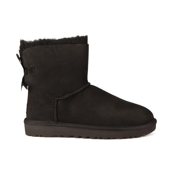 Ugg Womens Black Mini Bailey Bow II Boot main image