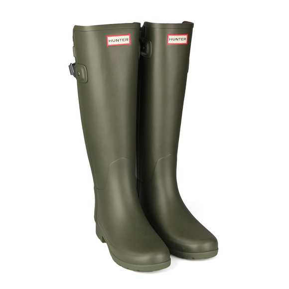 Hunter Womens Green Original Tall Refined Back Strap Wellington Boots main image