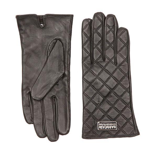 Barbour International Womens Black Burton Leather Glove main image