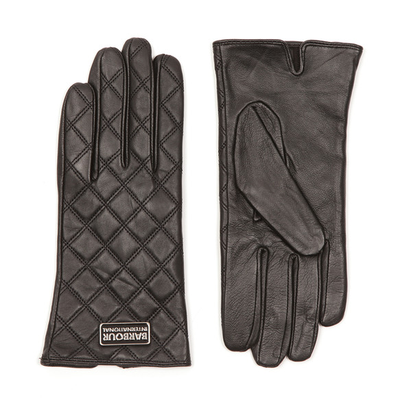 Barbour International Womens Black Burton Leather Glove main image