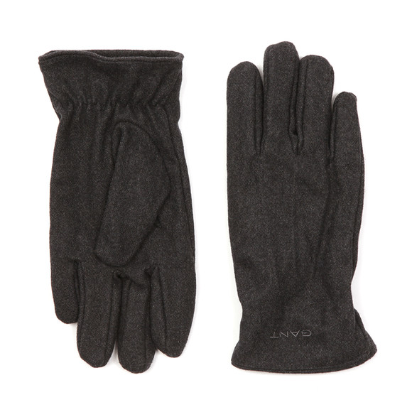 Gant Mens Grey Melton Gloves main image
