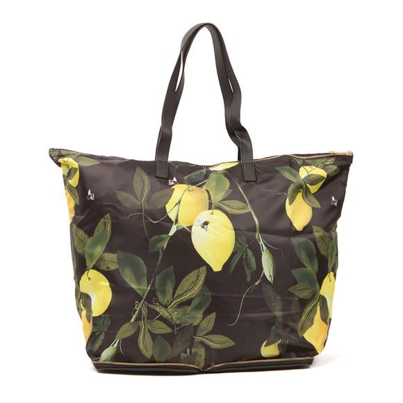 Ted Baker Womens Black Geralyn Citrus Bloom Fold Away Shopper main image