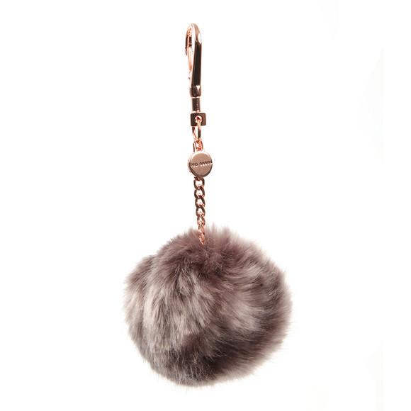 Ted Baker Womens Purple Plain Faux Fur Bag Charm main image