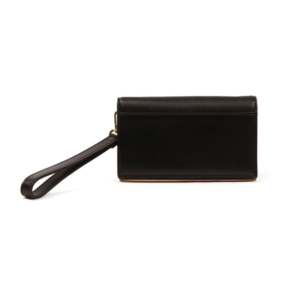Ted Baker Womens Black Quinlee Slim Bar Leather Phone Sleeve main image
