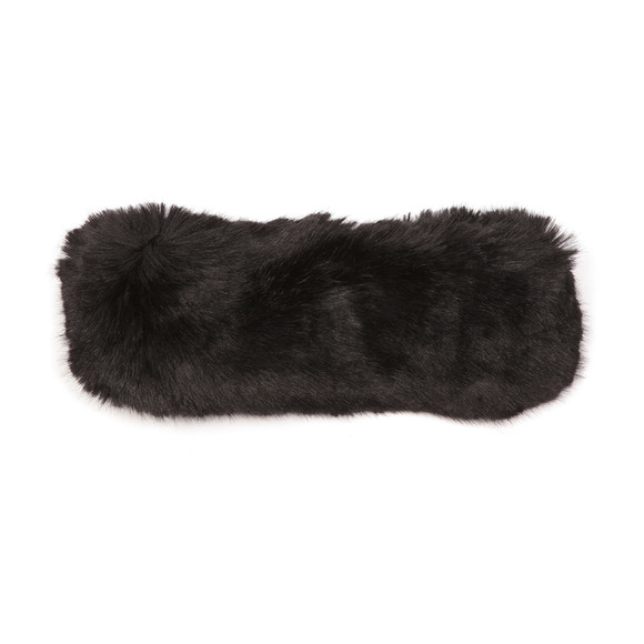 Ted Baker Womens Black Willa Mini Bow Faux Fur Headband main image
