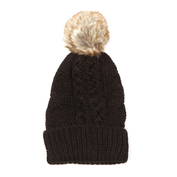 Superdry Womens Black North Cable Bobble Hat main image