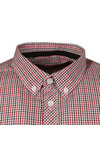 Merc Mens Red Syndale Small Check Shirt