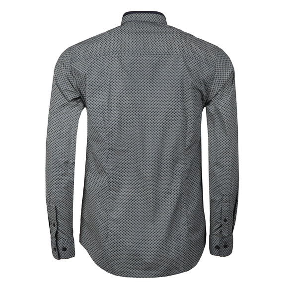 Merc Mens Blue Helmsley Paisley Shirt main image
