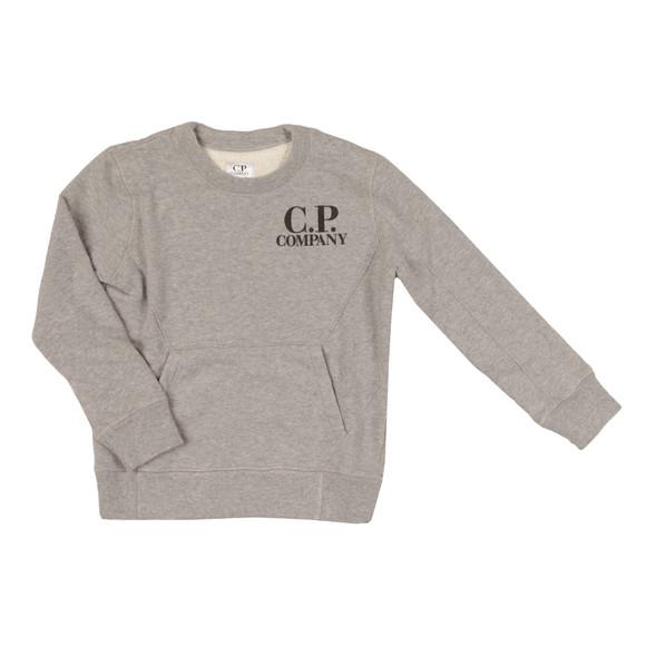 CP Company Undersixteen Boys Grey Printed Goggle Sweatshirt main image