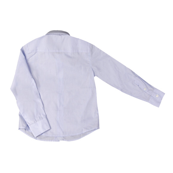 Armani Junior  Boys Blue Detailed Collar Shirt main image