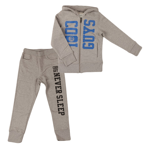 Diesel Boys Grey Large Logo Track Suit main image