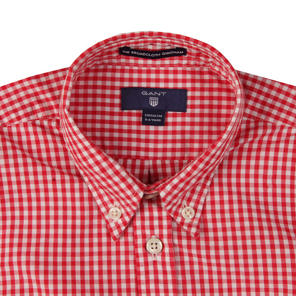 Gant Boys Red Archive Poplin Gingham Shirt main image