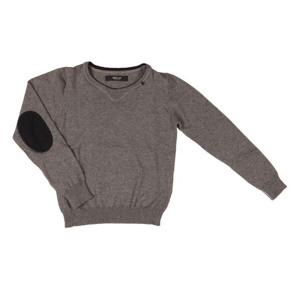 Replay Boys Grey Boys SB5207 Knitted Jumper main image