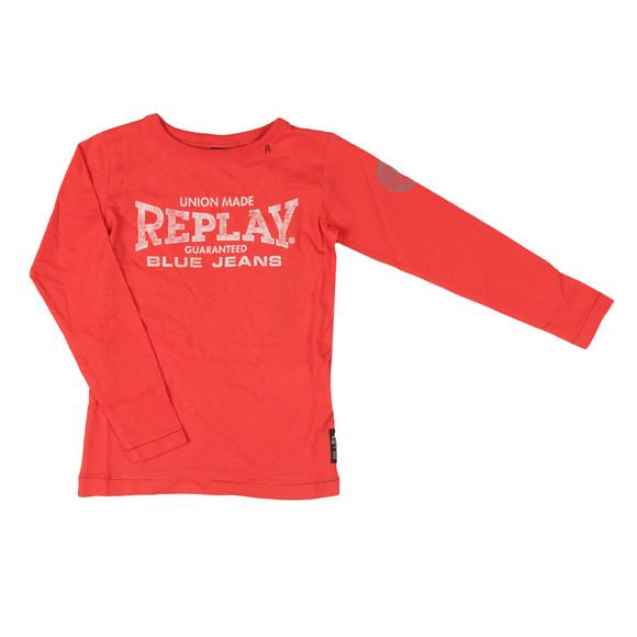 Replay Boys Red Boys SB7054 Logo T Shirt main image