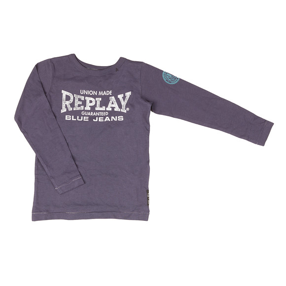 Replay Boys Blue Boys SB7054 Logo T Shirt main image