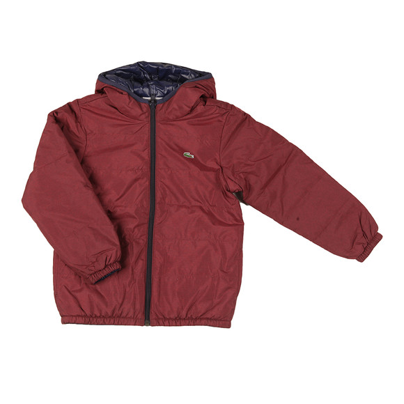 Lacoste Boys Red BJ9704 Reversible Jacket main image