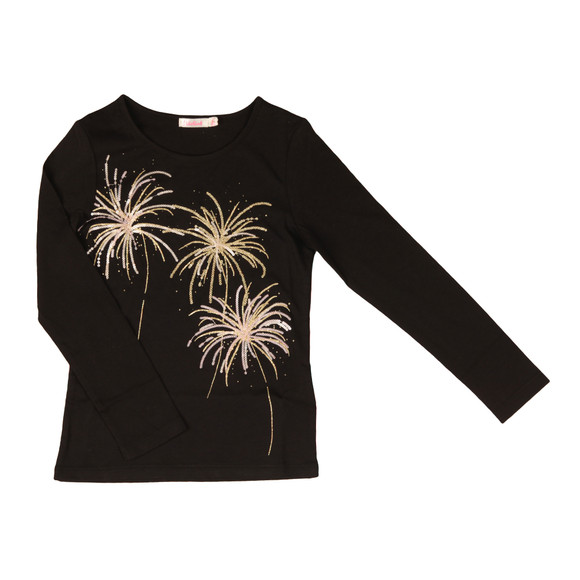 Billieblush Girls Black U15357 Fireworks T Shirt main image