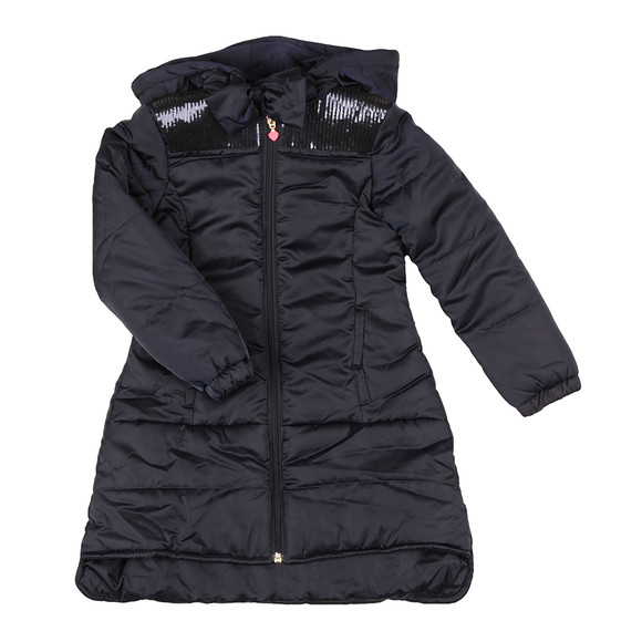 Billieblush Girls Blue U16119 Puffer Jacket main image