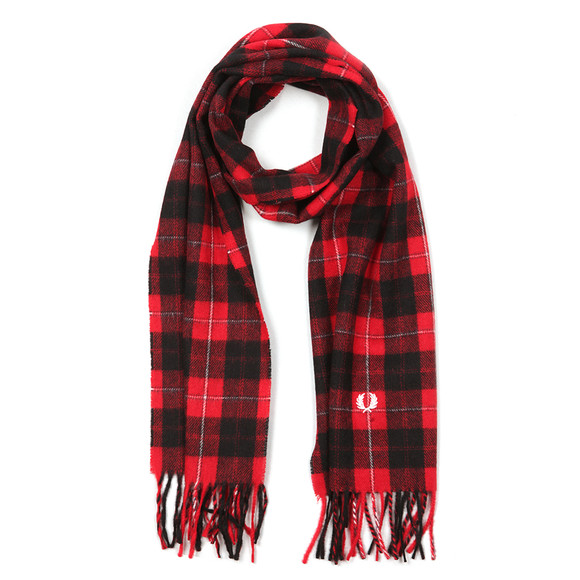 Fred Perry Mens Red Cunningham Tartan Scarf main image
