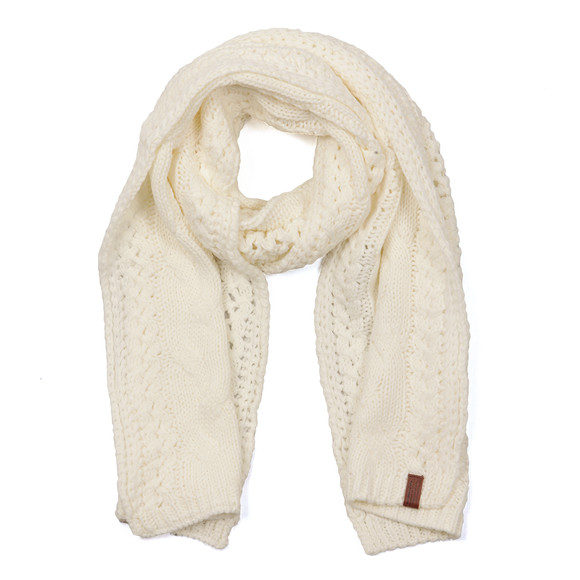 Superdry Womens Off-white North Cable Scarf main image