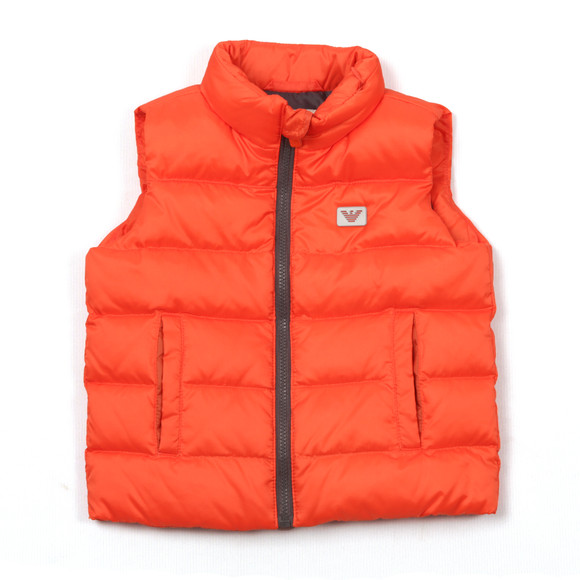 Armani Baby Boys Orange 6XHQ01 Gilet main image