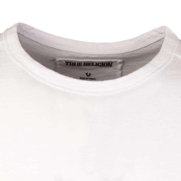 True Religion Mens White Horseshoe Crew T Shirt main image