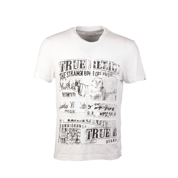 True Religion Mens White Cut Up Buddha T Shirt main image