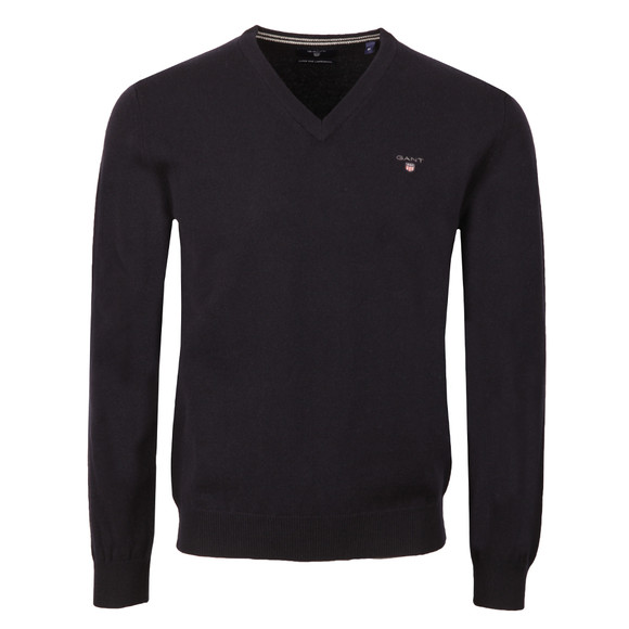 Gant Mens Blue V-Neck jumper main image